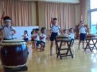 ひまわり組太鼓披露発表会 1日目行いました。